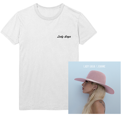 WHITE SCRIPT T SHIRT AND JOANNE