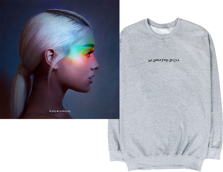 No Tears Left To Cry Grey Crewneck + Digital Single Bundle