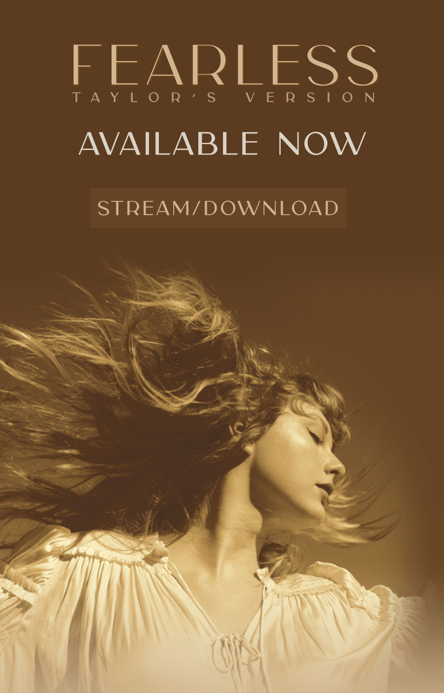 Fearless Taylor's Version Available Now Stream/Download