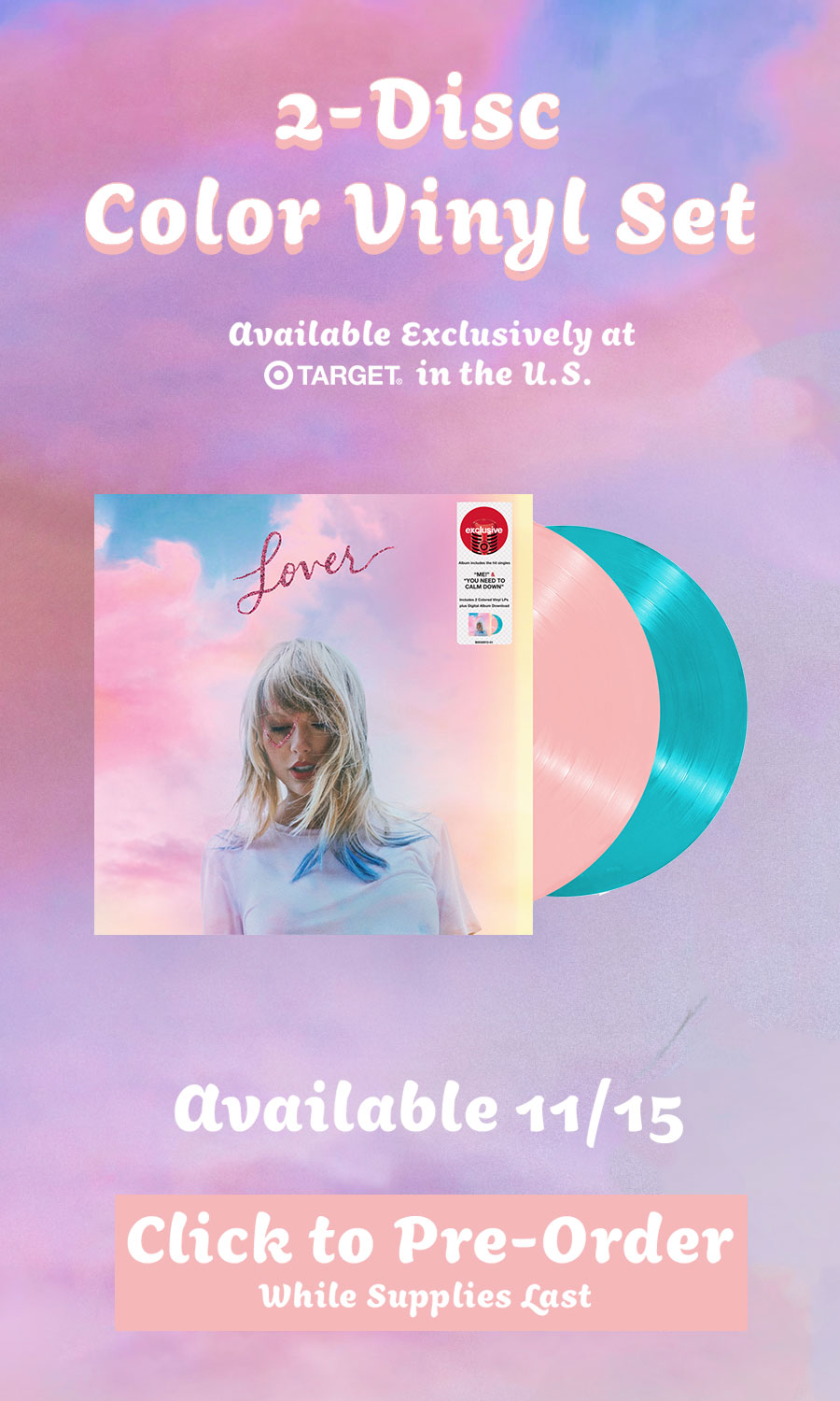 2-Disc Color Vinyl Set Available Exclusively at Target in the U.S. Available 11/15 while supplies last