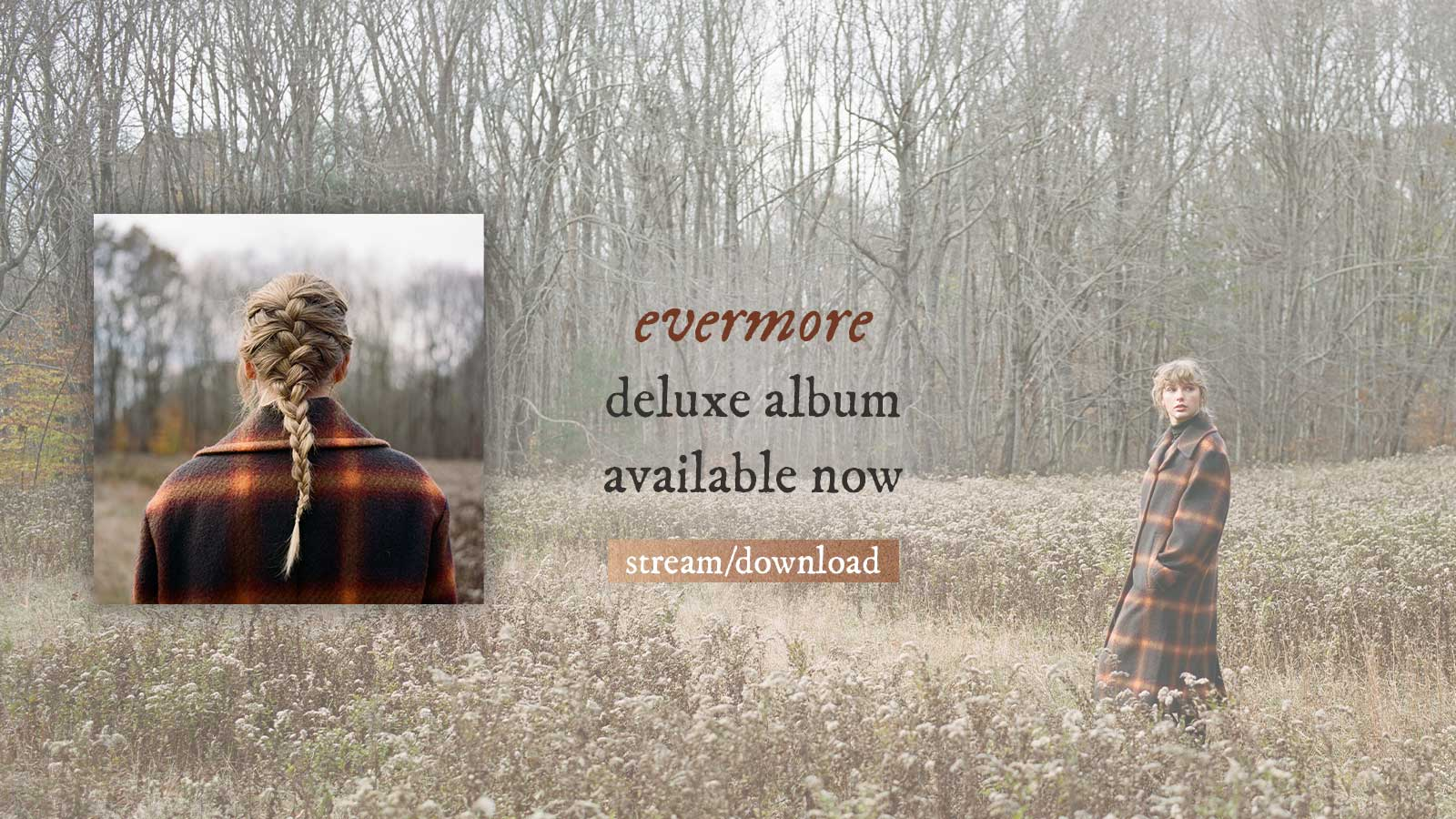 evermore deluxe album available now